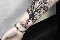 Black And Grey Tree Tattoo On Right Forearm 10801080 Body with size 1080 X 1080