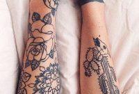 Black Floral Flower Outer Forearm Tattoo Ideas For Women Sacred regarding measurements 1000 X 1645