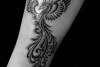 Black Ink Tribal Phoenix Tattoo Design For Forearm Xpose within proportions 2448 X 3264