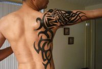Black Ink Tribal Tattoo On Side And Right Arm pertaining to sizing 1024 X 768