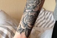 Black Rose Forearm Tattoo Ideas For Women Vintage Traditional in measurements 950 X 2048