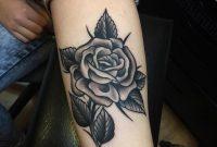 Black Rose Tattoo On Forearm Samuele Briganti inside proportions 960 X 960