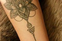Boho Unalome Lotus Flower Forearm Tattoo Nunu Starcat Koh in proportions 747 X 1328