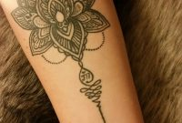 Boho Unalome Lotus Flower Forearm Tattoo Nunu Starcat Koh with regard to measurements 747 X 1328