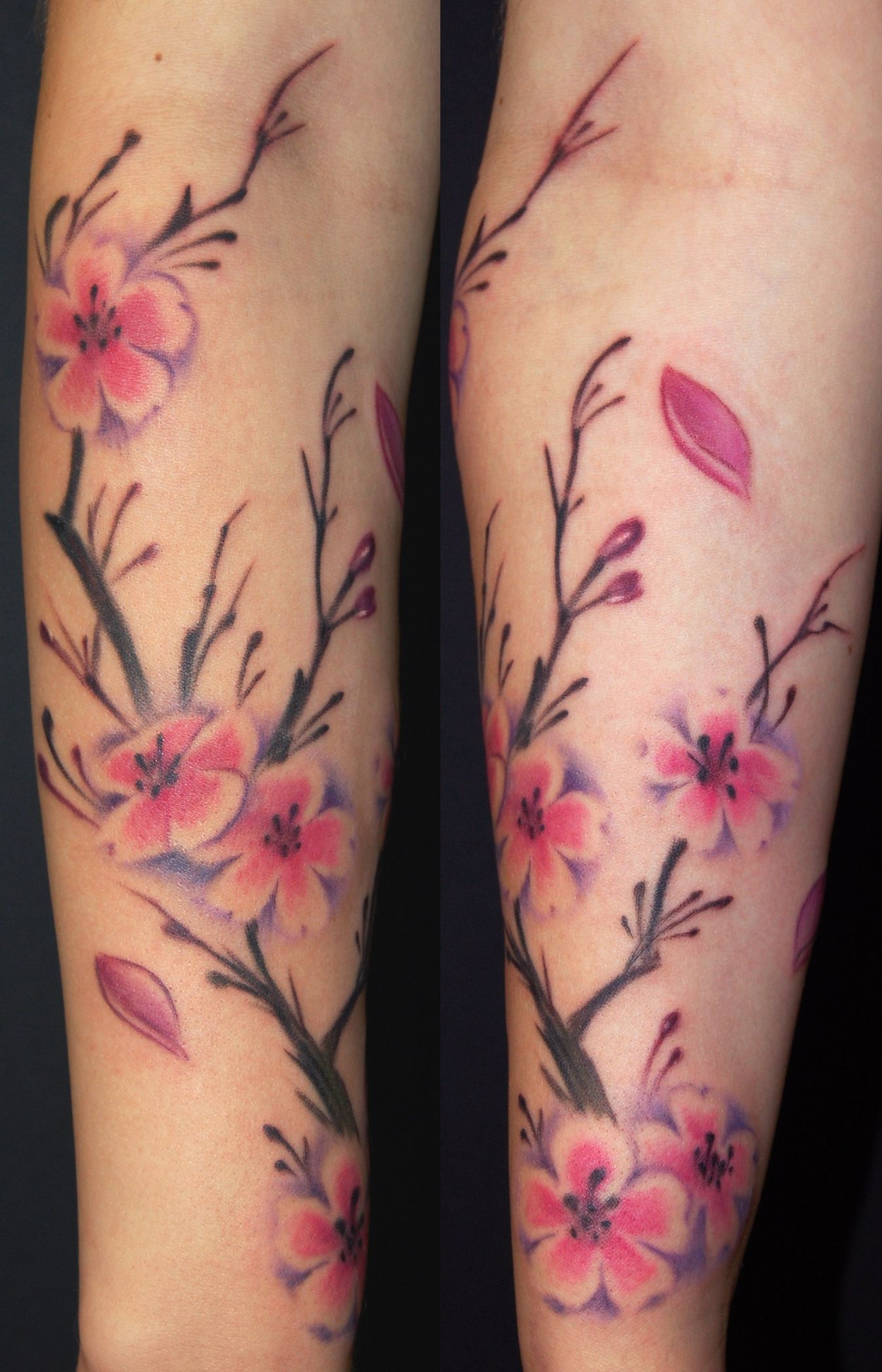 Cherry Blossom Tattoo On Arm For Women Off The Map Tattoo pertaining to sizing 1348 X 2096