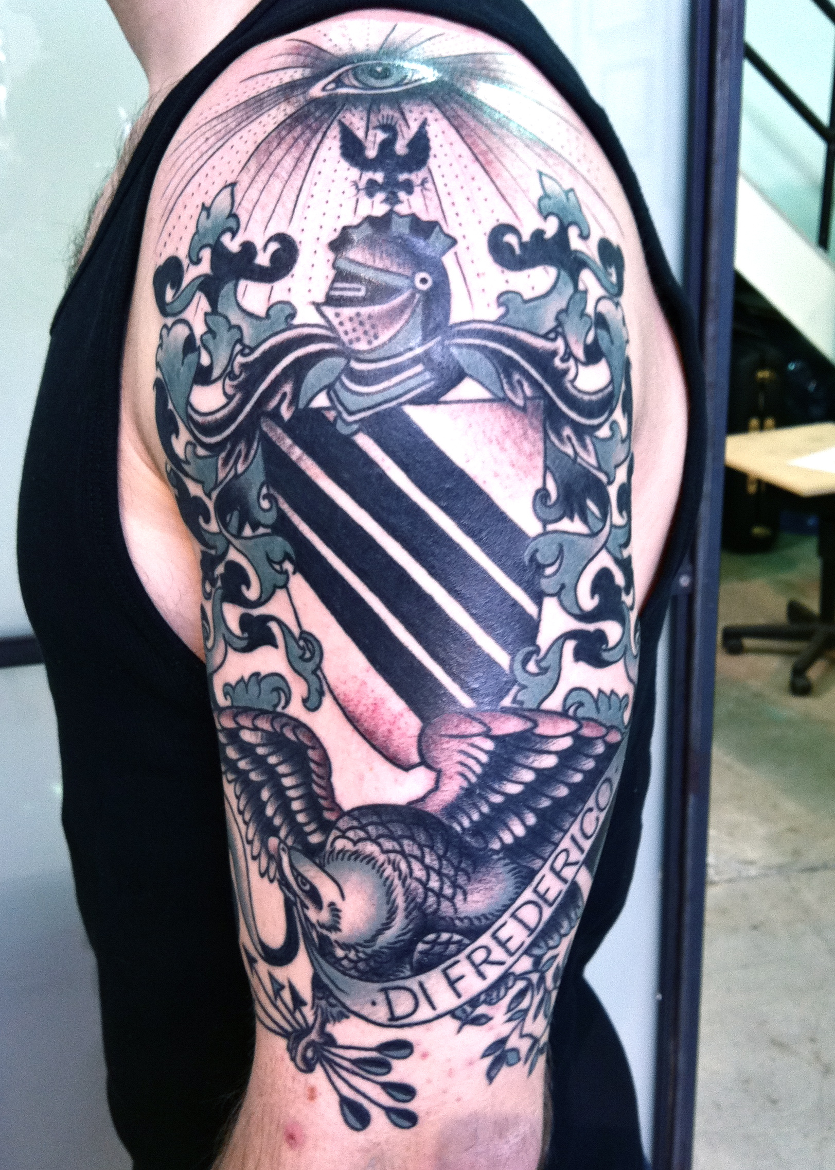 Coat Of Arms Tattoo Tattoos Virginia Elwood inside measurements 1623 X 2272