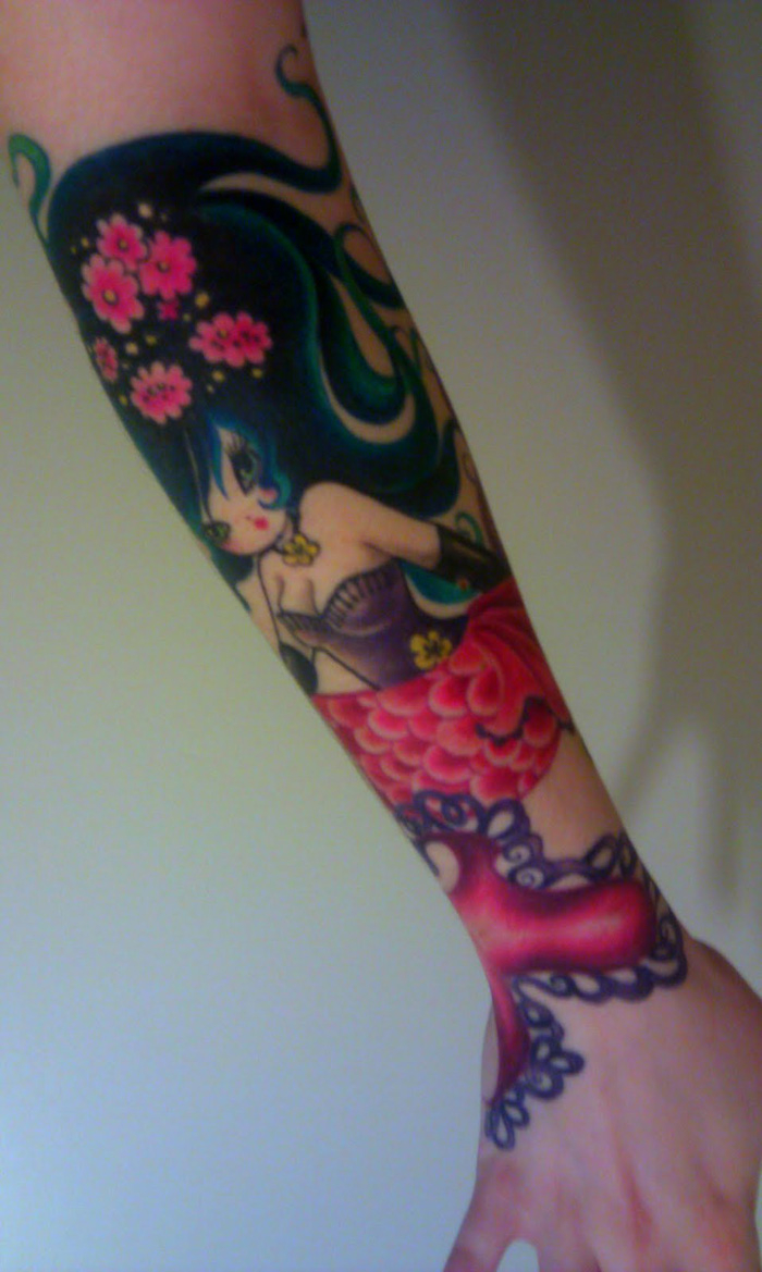 Collection Of 25 Colorful Arm Tattoos For Women pertaining to dimensions 700 X 1169