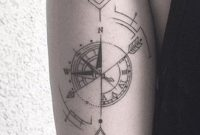 Compass Arrow Back Of Arm Forearm Tattoo Ideas At Mybodiart pertaining to proportions 929 X 1500