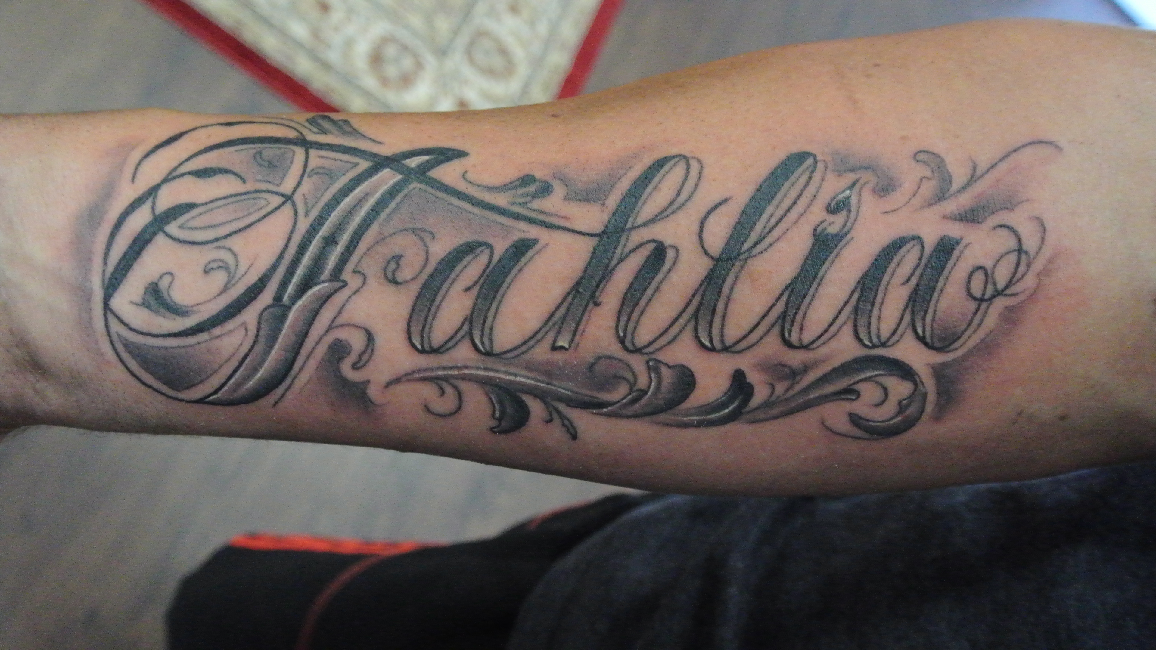 Coolest Tribal Name On Arm Tattoo Design Tattooed Images throughout proportions 3840 X 2160