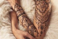 Cute Henna Lace Arm Tattoo Ideas You Should Try 22 Projects To Try throughout sizing 1024 X 1190