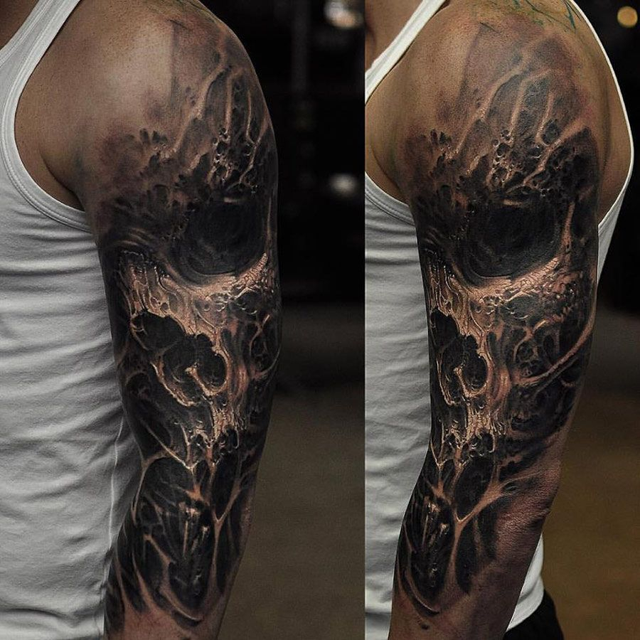 Dark Skull Sleeve Httptattooideas247evil Skull Sleeve pertaining to proportions 900 X 900
