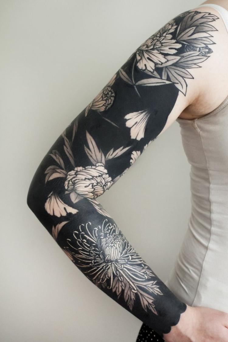 Das Blackwork Tattoo Fr Ein Schlichtes Und Doch Eindrucksvolles Design pertaining to measurements 750 X 1125