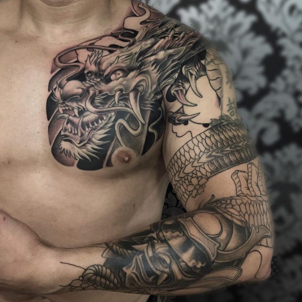 Dragon Armband Tattoo Download Dragon Tattoo Left Arm Danesharacmc with regard to dimensions 1024 X 1024