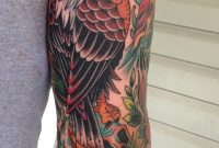 Eagle And Skull Traditional Tattoo On A Mans Last Spot Left On His intended for size 1388 X 2047