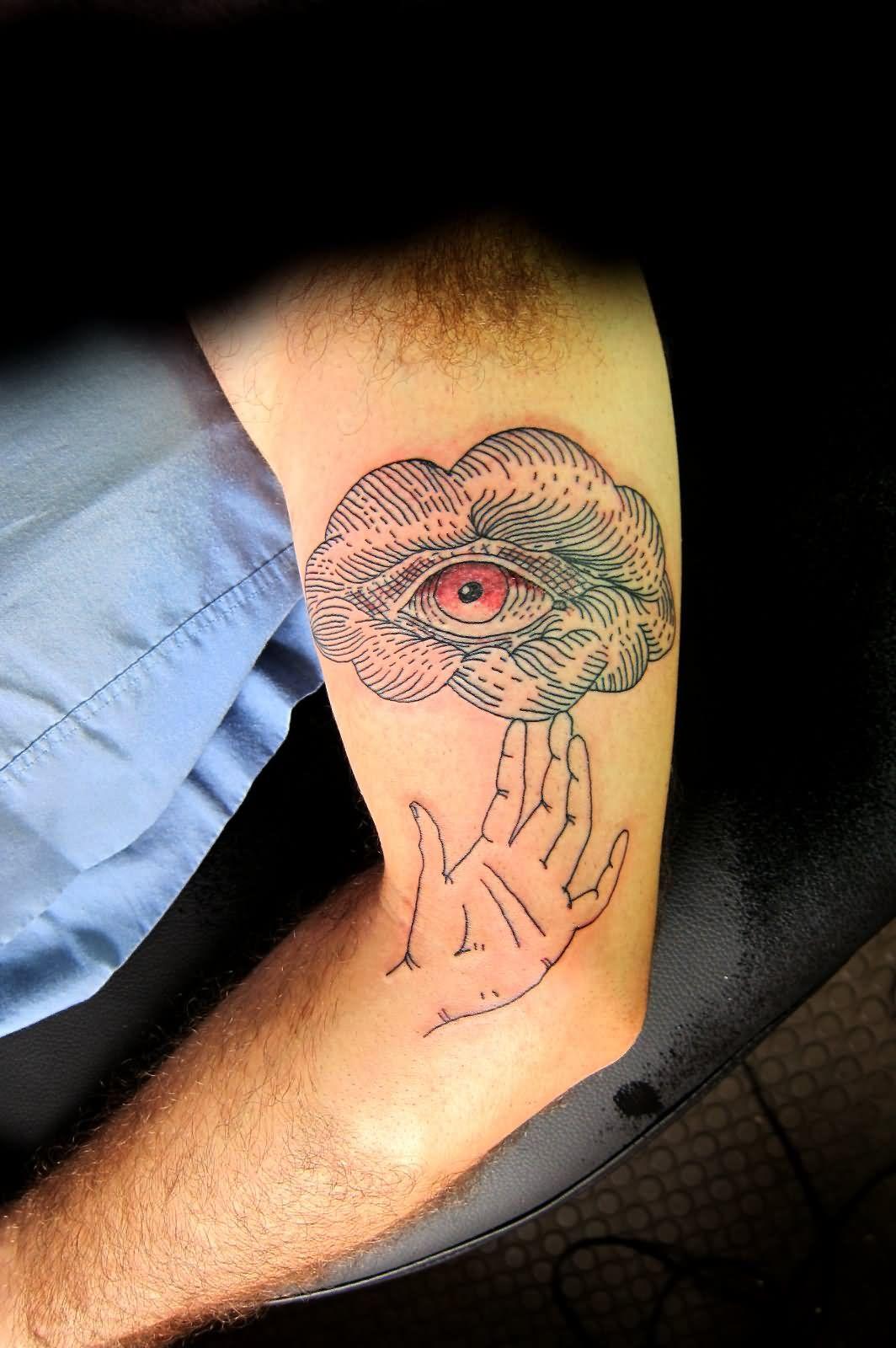 Eye In Cloud Tattoo On Left Half Sleeve Y inside sizing 1064 X 1600