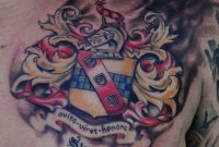 Family Coat Of Arms Tattoo On Chest 20562620 Coat Arms pertaining to size 2056 X 2620