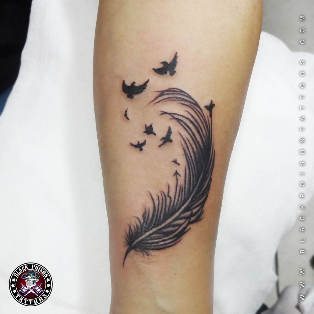 Feather Tattoos And Its Designs Ideas Images And Meanings Black for dimensions 1000 X 1000