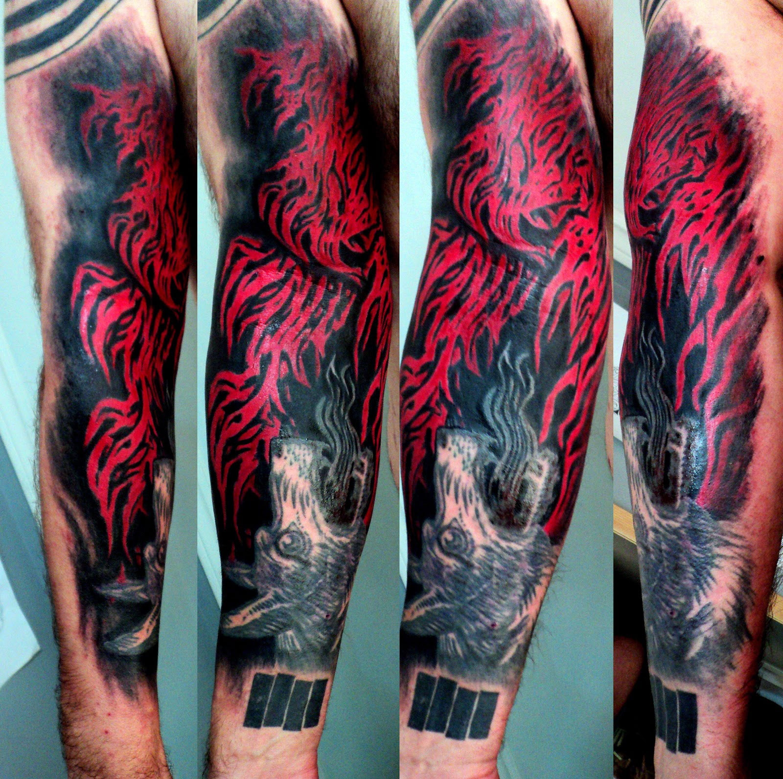 Flame Tattoos On Arm Cool Tattoos Bonbaden within proportions 1600 X 1593