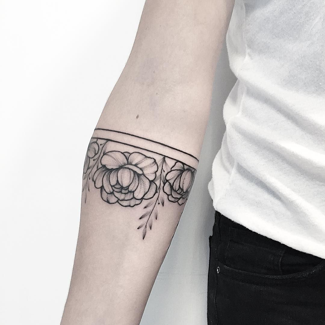 Floral Armband Annabravo Tattoo Pinte with regard to proportions 1080 X 1080