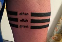 Forearm Bands Tattoo With My Childrens Names Thanks Pete Jersey for proportions 1000 X 1334