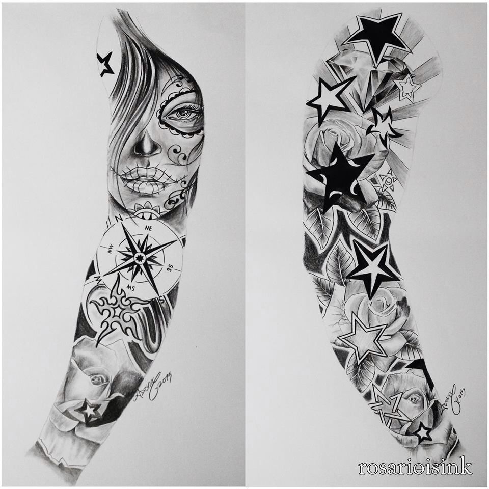 Full Arm Sleeve Art Pinte with measurements 960 X 960