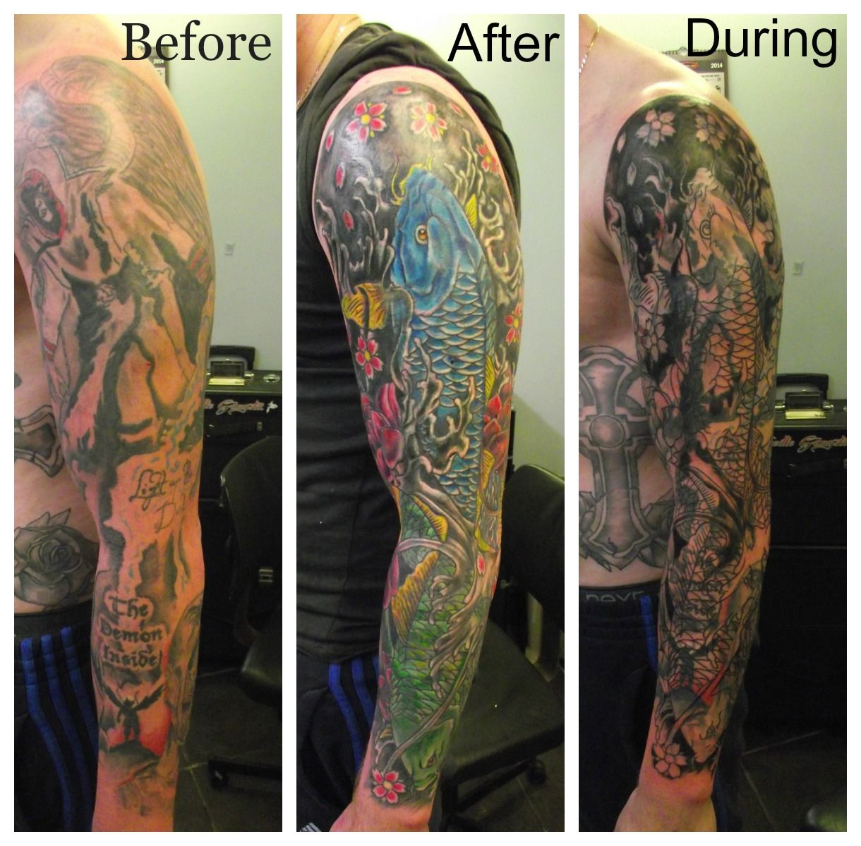 Full Arm Tattoo Cover Up Sleeve • Arm Tattoo Sites