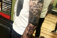 Full Sleeve Tattoos For Men Awesome Wolf Tattoo Forrest Tattoo pertaining to measurements 3024 X 4032