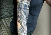 Full Woman Arm Tattooeyeowl And Dreamcather Laczko Balazs with proportions 2352 X 3616
