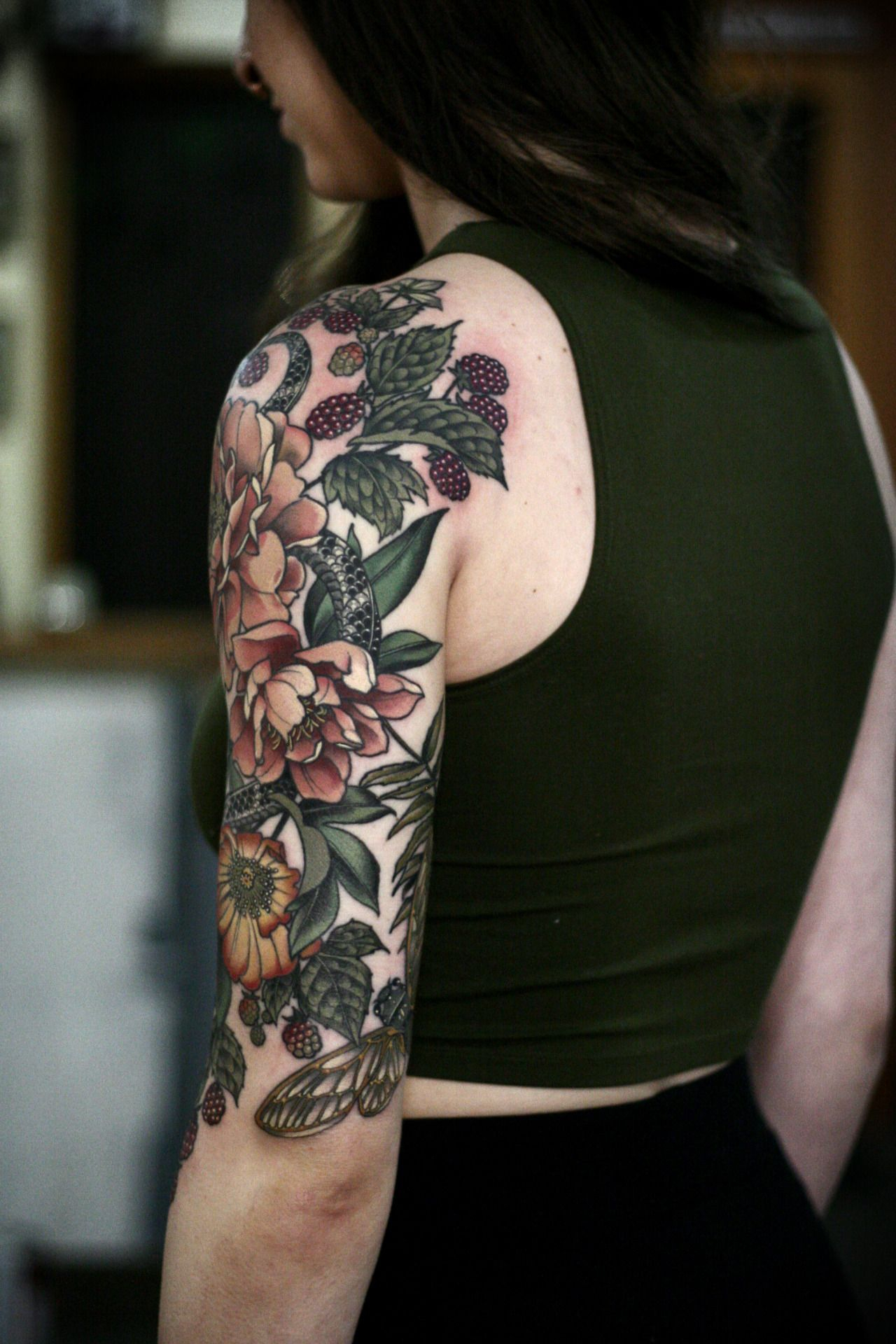 Garden Half Sleeve Ive Been Working On Since September On Makenzie for sizing 1280 X 1920