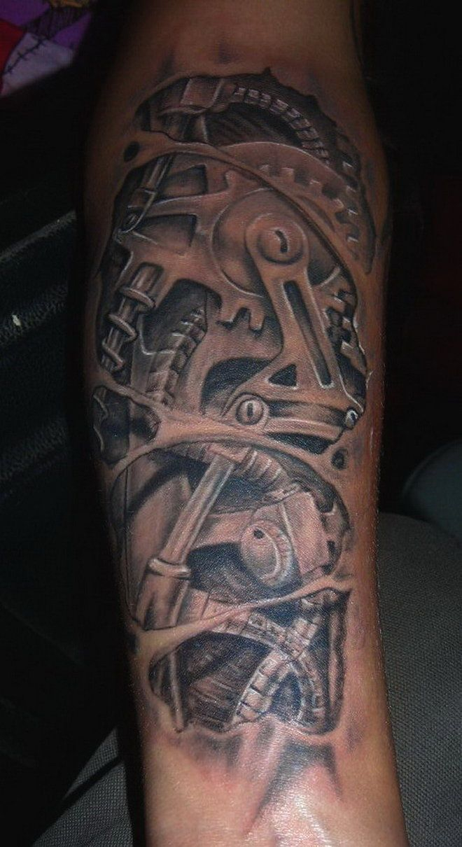 Gear Arm Tattoo Arm Tattoo Sites