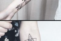 Geometric Diamond Rose Forearm Tattoo Ideas For Women Black Wild inside measurements 1018 X 2048