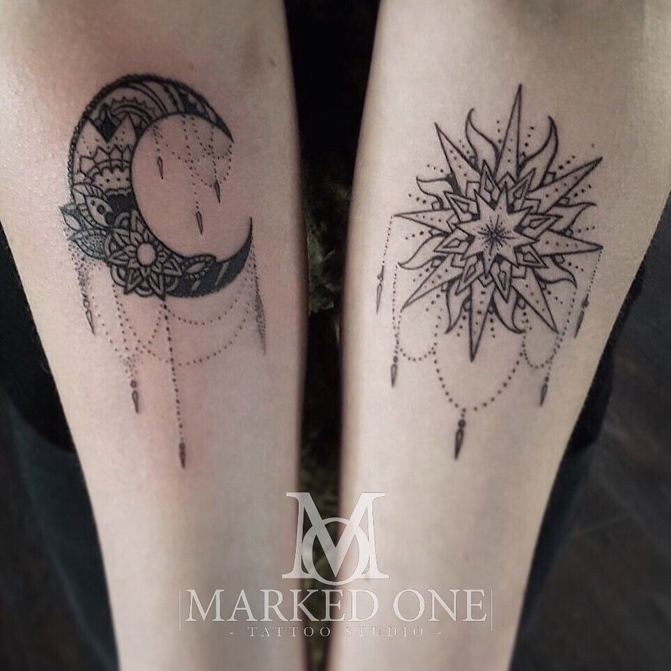 Girly Forearm Piece Matching Arm For Girly Tattoo Sun And Moon inside measurements 963 X 963