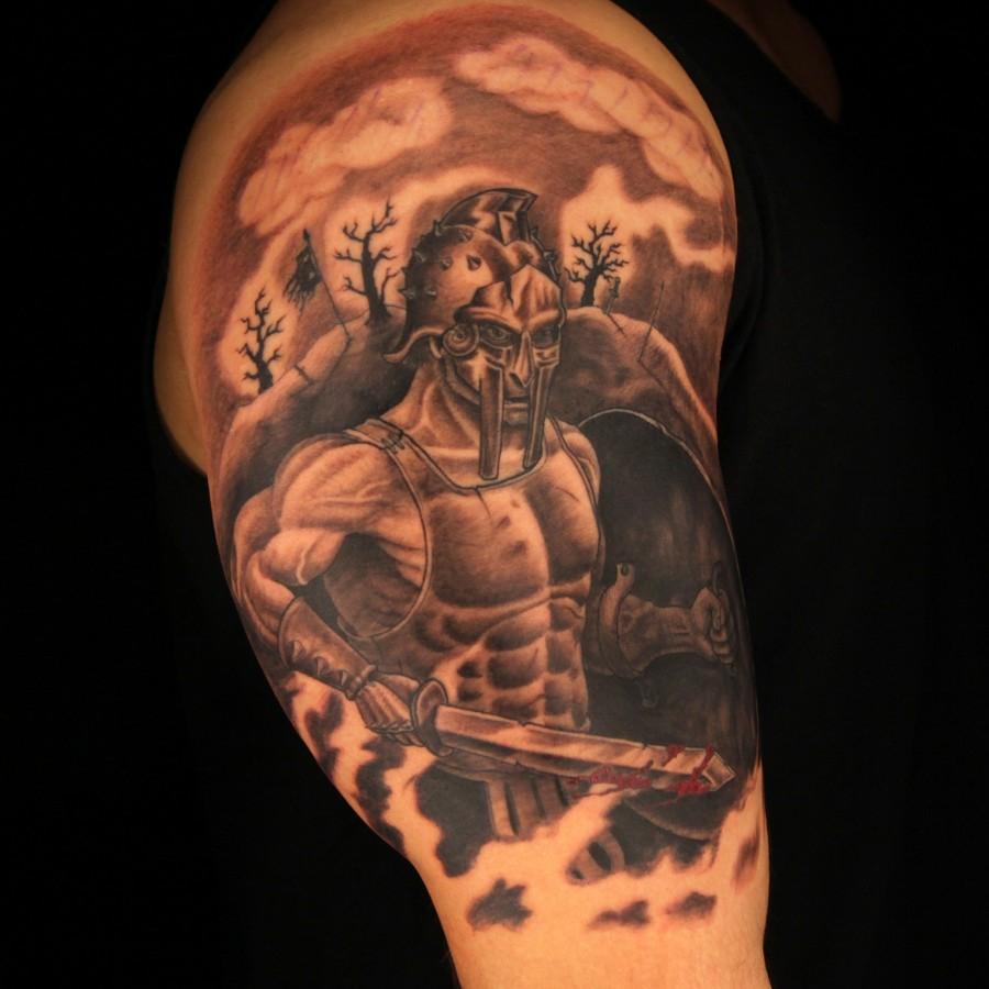 Great Gladiator Arm Tattoo Tattoomagz within measurements 900 X 900