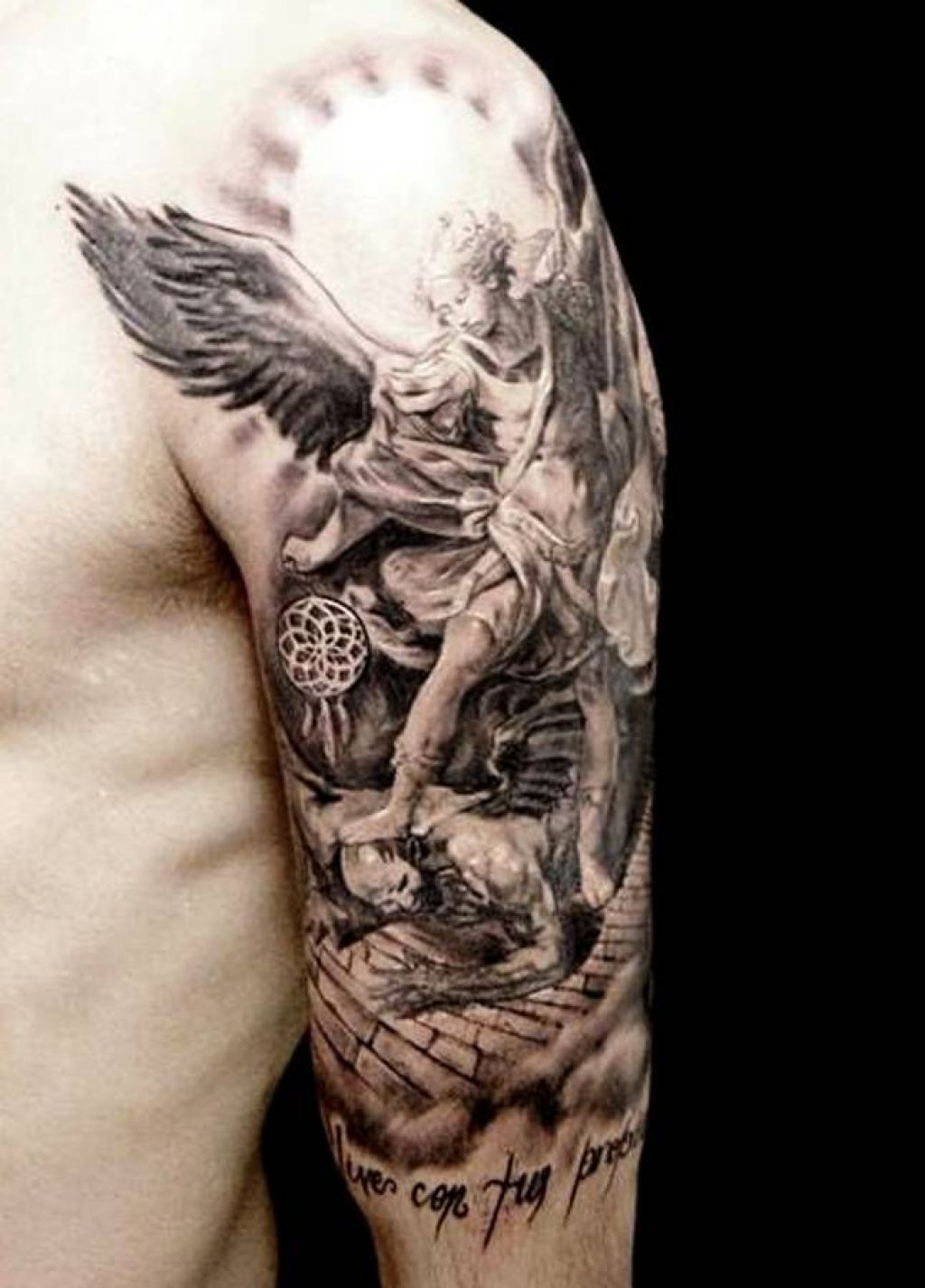 Guardian Angel Arm Tattoos Images Of Guardian Angel Tattoo Arm Ideas pertaining to sizing 1024 X 1426