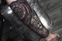 Half Arm Tattoo Lion Tattoo Clock Tattoo Tatuaggio Ingranaggi throughout dimensions 2048 X 2048