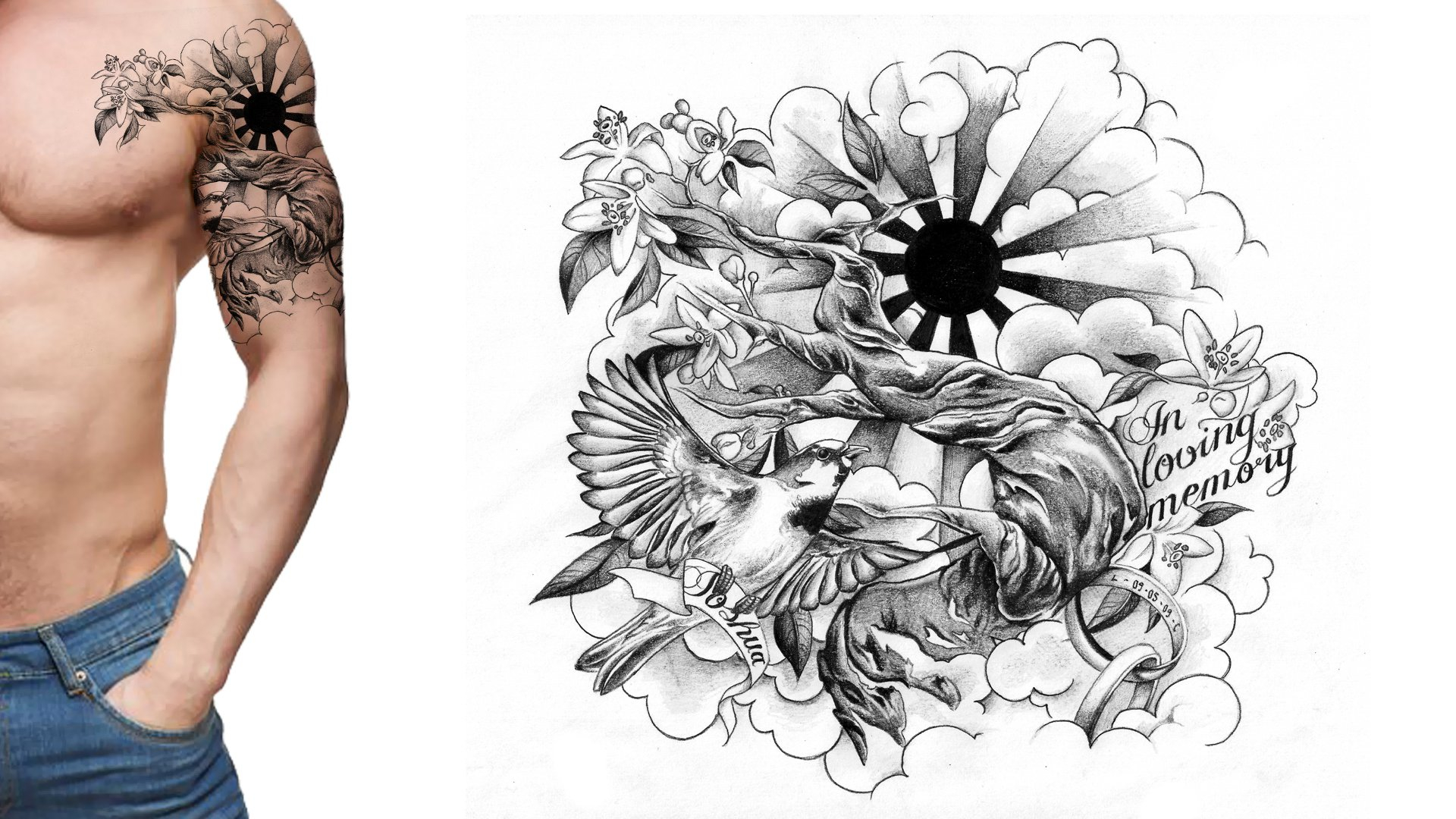 Half Sleeve Tattoo Drawing Designs At Getdrawings Free For with regard to proportions 1920 X 1080