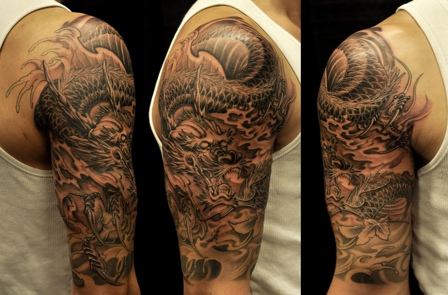 Half Sleeves Tattoo Collection From Dragon Tattoo Ideas Description intended for size 1725 X 1137