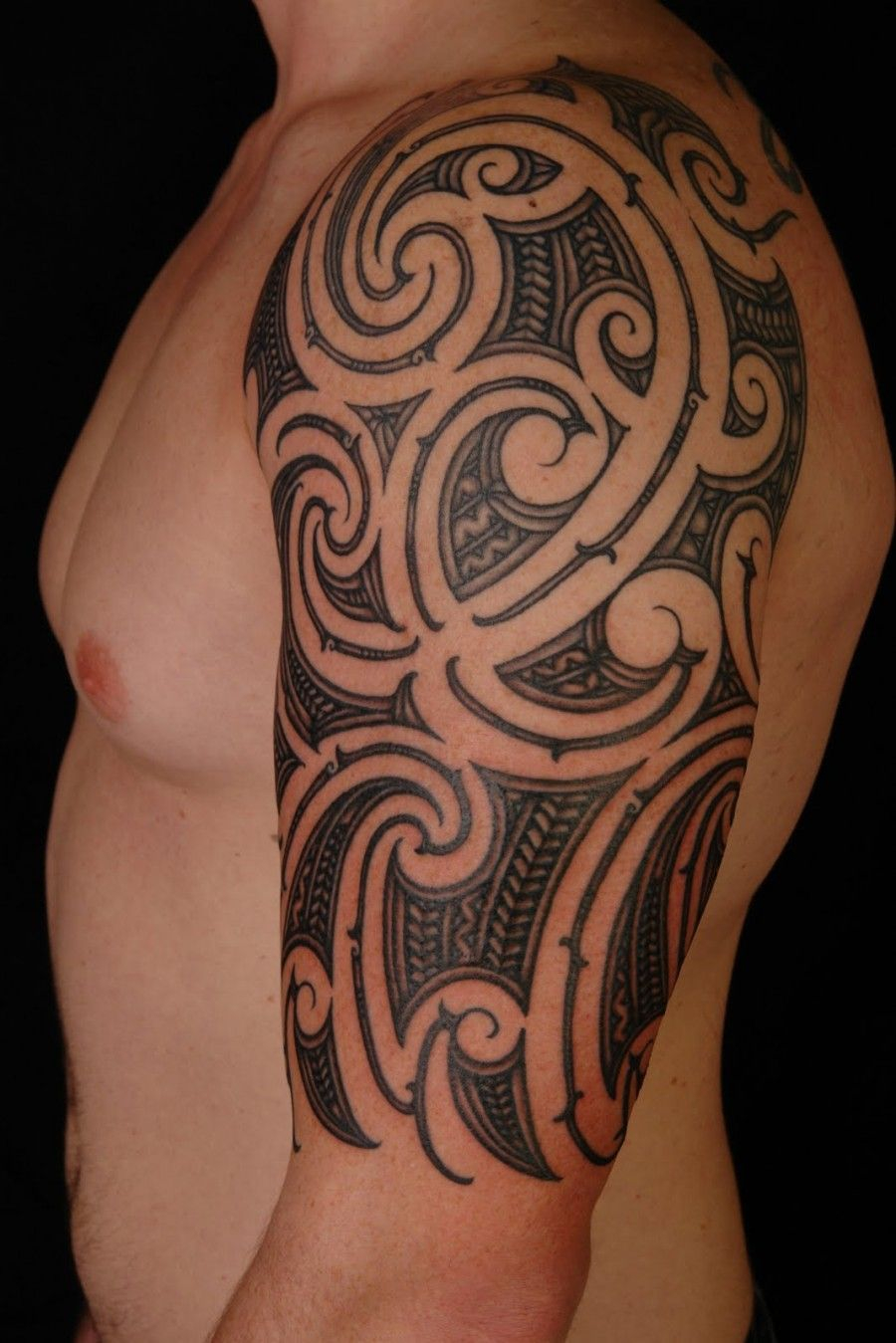 Tribal Arm Half Sleeve Tattoo Designs Arm Tattoo Sites