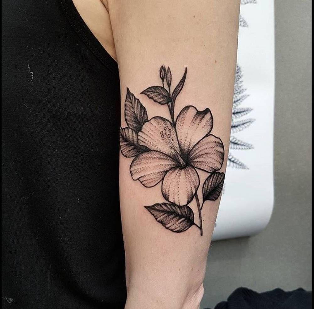 Hibiscus Flower Tattoo On The Left Upper Arm Quiero Copiarte in size 1000 X 984