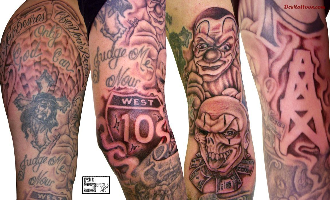 Hood Sleeve Tattoos Designs 50 Fantastic Gangsta Tattoos Future throughout proportions 1152 X 700