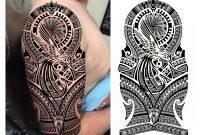Hummingbird Maori Polynesian Tribal Half Sleeve Tattoo Design throughout measurements 3810 X 2960