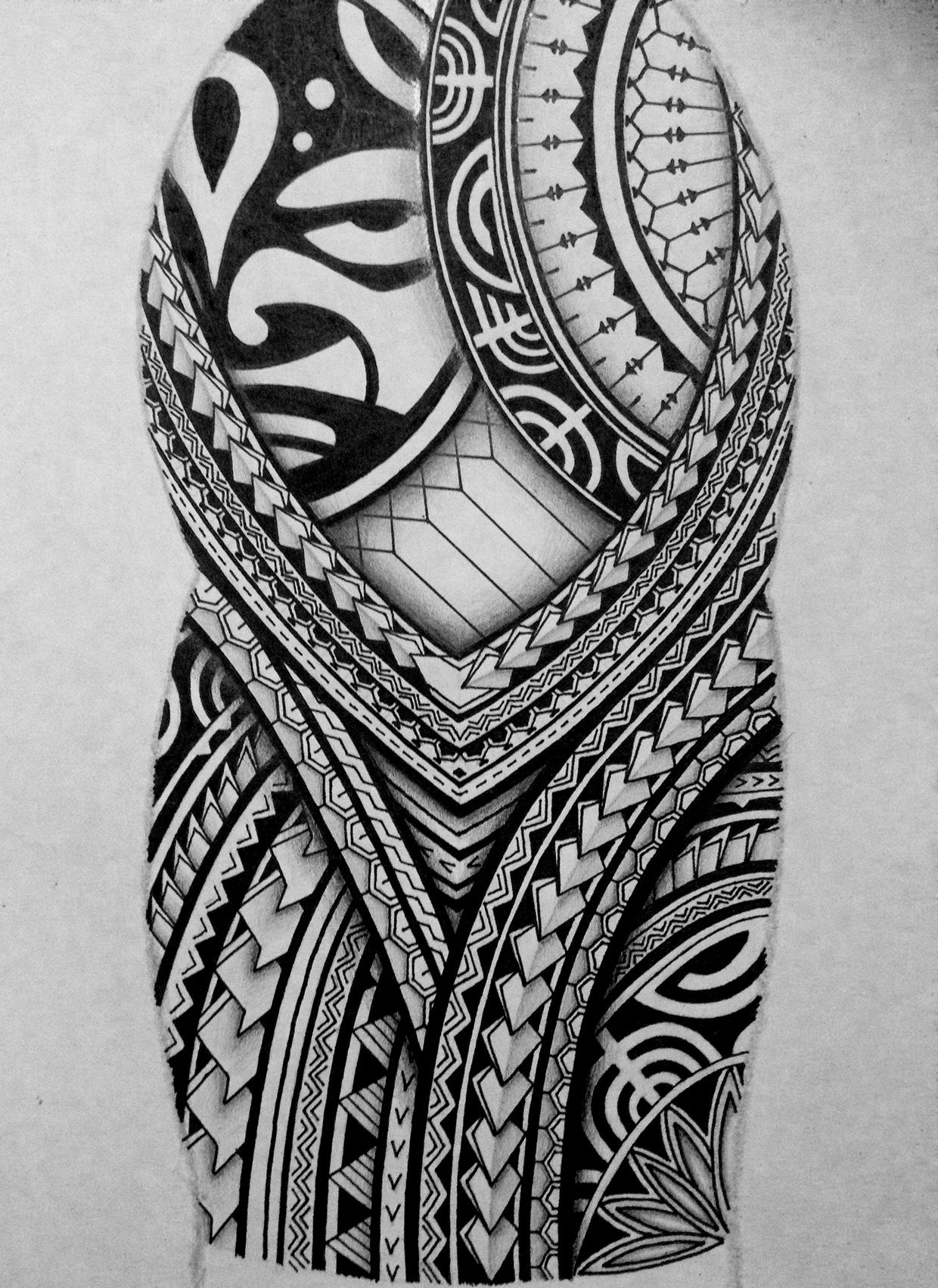 I Created A Polynesian Half Sleeve Tattoo Design For My Brother with proportions 1240 X 1702