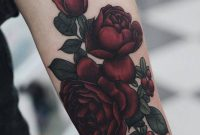 Illustrative Red Rose Tattoo On The Left Inner Forearm Tattoo with regard to size 800 X 1000