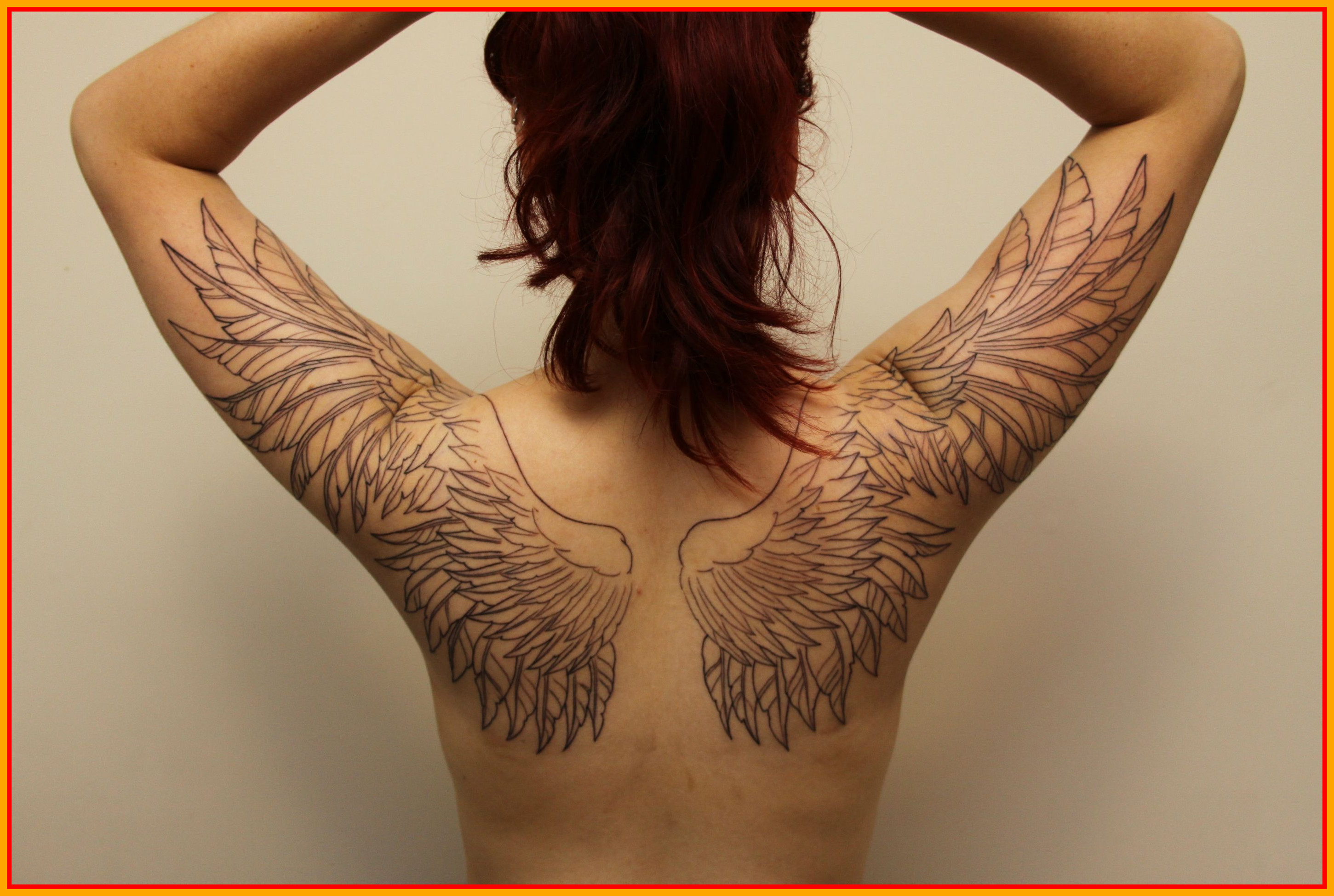 Incredible Angel Wing From Back To For Site Com Tattoo Designs Arm with measurements 2901 X 1950