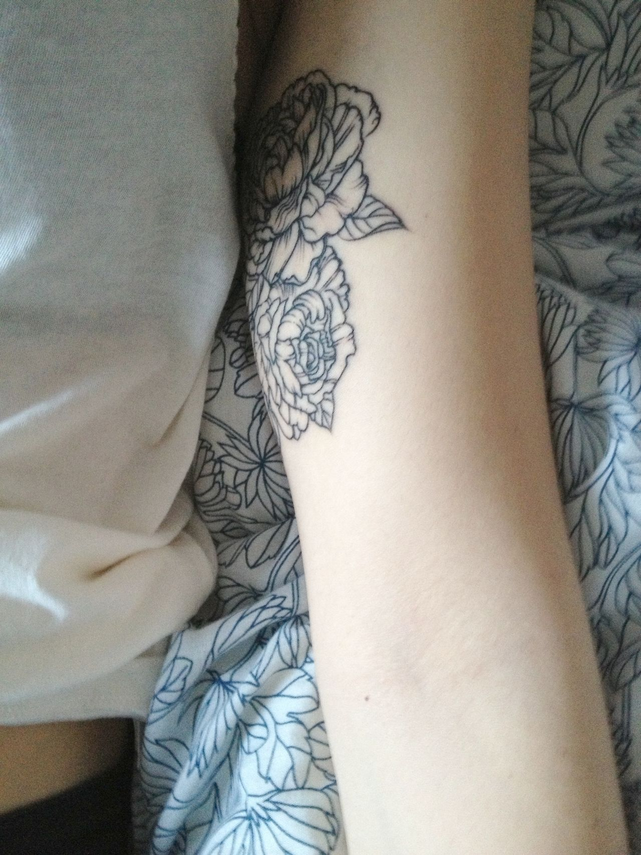 Inner Upper Arm Rose Tattoo I Like This Spot Away From Sunlight with measurements 1280 X 1707