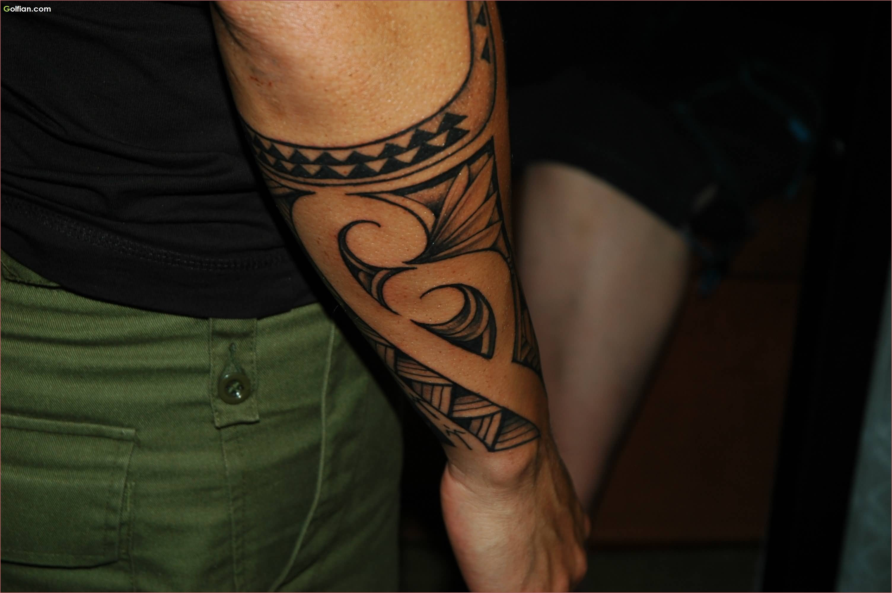 Small Forearm Tribal Tattoos For Guys Arm Tattoo Sites