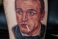 James Bond 007 Sean Connery Portrait Tattoo Devin Zimmerman intended for proportions 865 X 960