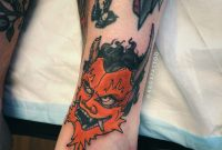 Japanese Oriental Colour Oni Mask Design For Ankle Tattoo Akos inside proportions 3024 X 4032