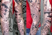 Japanese Sleeve Tattoos Black Grey Japanese Sleeve Tattoo for size 1720 X 1860