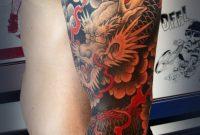 Japanesedragontattoos Dragon Sleeve Saltwatertattoo Japanese throughout dimensions 1013 X 2311